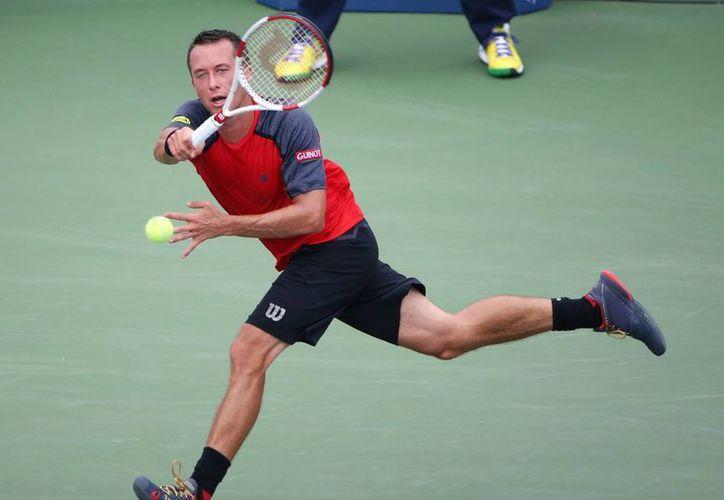 El alemán Philipp Kohlschreiber cayó por 6-1, 7-5 y 6-4 ante el experimentado serbio Novak Djokovic en el Abierto de EU. (Foto: AP)