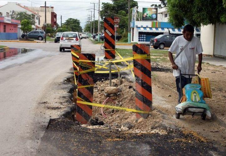 Las obras pendientes en la capital continuarán a la par de las que se realicen en las comunidades. (SIPSE)