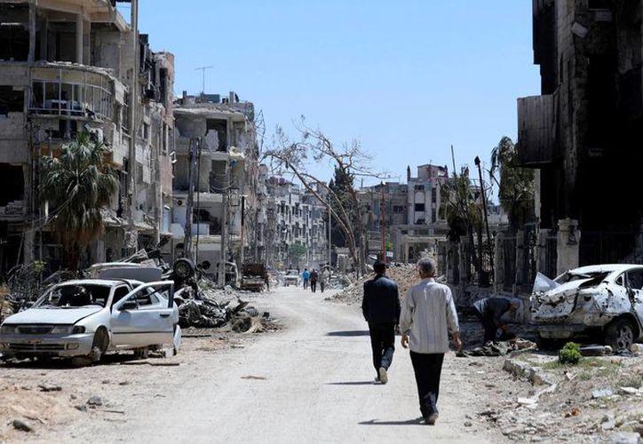 Los inspectores tienen la misión de comprobar el uso de armas químicas en Guta Oriental. (AP)