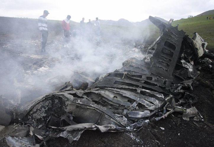 El avión militar de Estados Unidos se estrelló cerca de la media noche del tiempo de Afganistán. (EFE/Archivo)