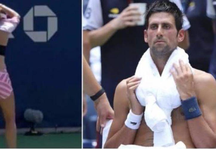 En partidos previos, tenistas varones se han despojado de la playera sin ser sancionados (SDP)