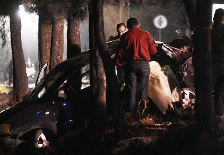 Luis Eduardo chocó un auto y ocasionó la muerte de cinco adolescentes, en Tláhuac. (Foto: Twitter)