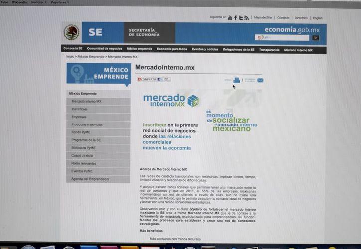 Dentro de la página www.mercadointerno.com.mx los empresarios interesados se pueden dar de alta. (Israel Leal/SIPSE)