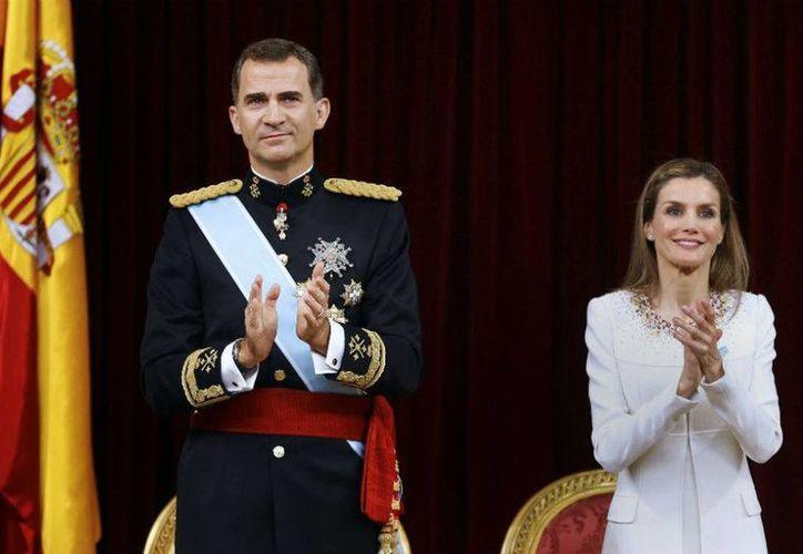Los Reyes mantendrán una serie de encuentros con dignatarios y visitarán el estado de Zacatecas. Imagen de la proclamación de Felipe VI como rey. (Archivo/AP)