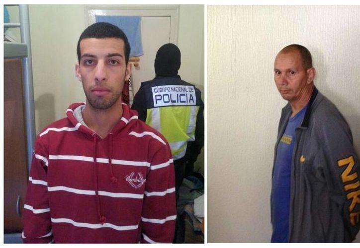 Los sospechosos fueron identificados como Nou Mediouni, (izq) y Hassan El Jaaouani. (Agencias)