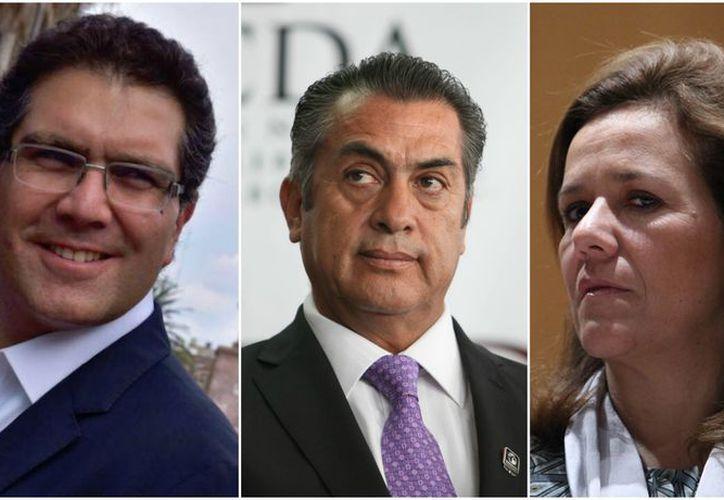Armando Ríos Piter, Jaime Rodríguez y Margarita Zavala esperan la validación de las firmas en el INE. (Foto: Cultura Colectiva Noticias)