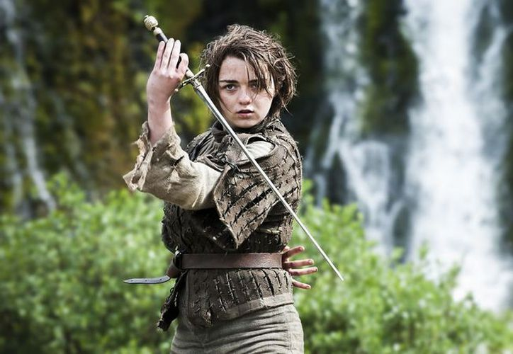 La actriz Maisie Williams interpreta a Arya Stark, en la serie de televisión Game of Thrones (Juego de Tronos). (Foto: Gamba FM)