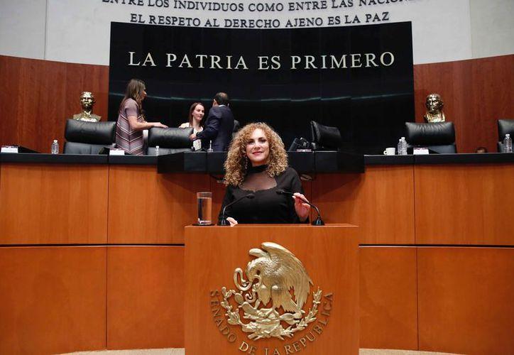 Luz María Beristain Navarrete señaló que con la legislación se está efectuando la justicia social. (Cortesía)