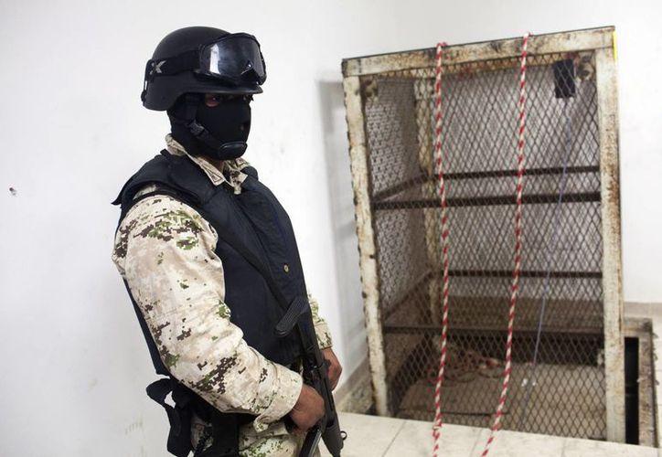 Imagen de un narcotúnel descubierto en 2013 en la frontera México-EU. Imagen de contexto. (Foto archivo AP)