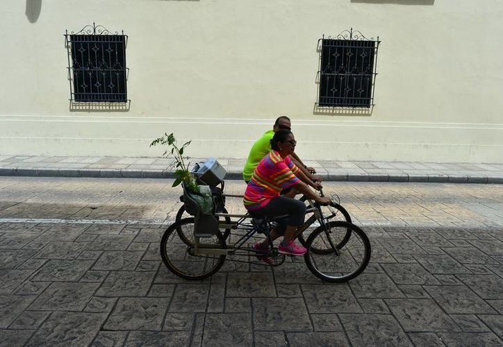 Aunque con cielo nublado, ayer Mérida registró una temperatura de 33 grados centígrados. (Luis Pérez/SIPSE)