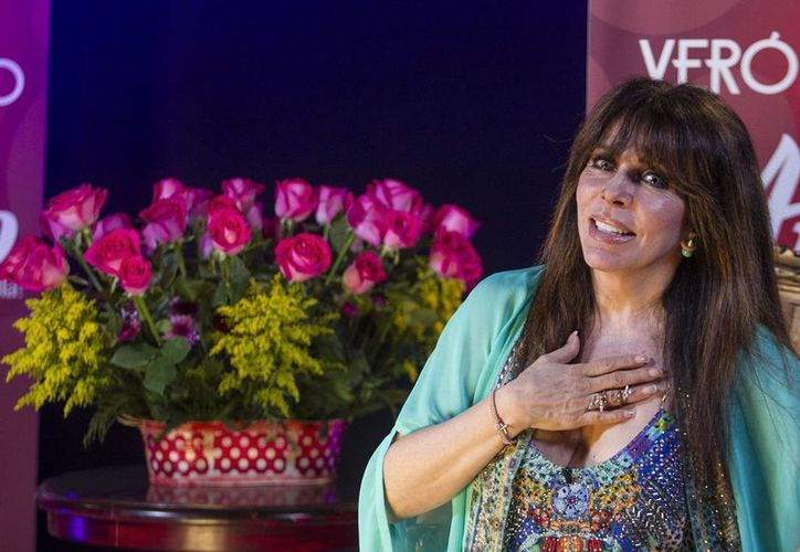 Verónica Castro se encuentra preparando su regreso a escena con la obra 'Aplauso: Un musical para una estrella'. (Notimex)