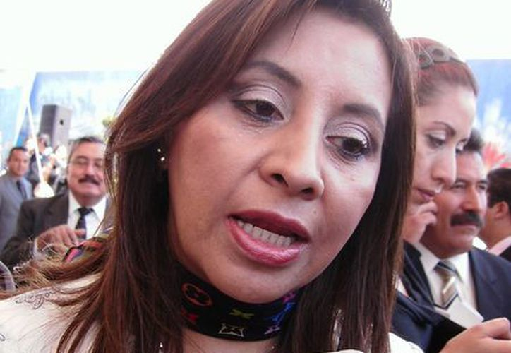 Mirna García López, exsecretaria general de la Sección 15 del SNTE en Hidalgo, fue denunciada por el apoderado legal del CEN de su Sindicato.(agendahidalguense.com)