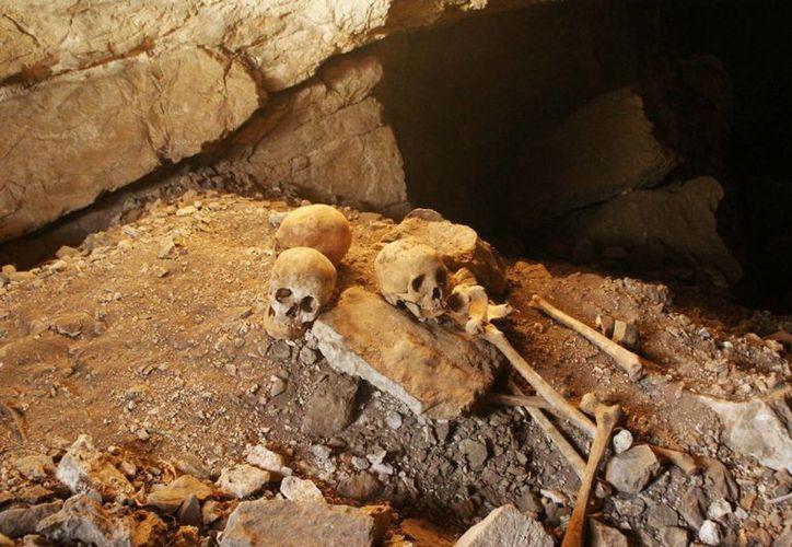 Con la colaboración de especialistas del INAH y de la investigación forense se refuerza la recuperación de osamentas prehispánicas y del tiempo de la Colonia. (SIPSE/Archivo)