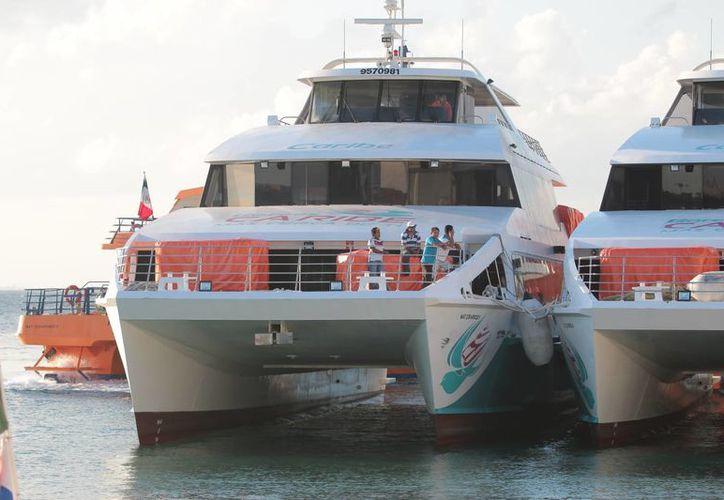 El banderazo inaugural de Barcos Caribe será el lunes en Cozumel. (Gustavo Villegas/SIPSE)