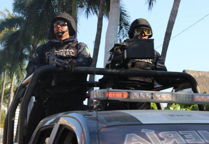 El titular de la Policía Federal dijo que la corporación hará valer el estado de derecho donde sea necesario. (Archivo/Notimex)
