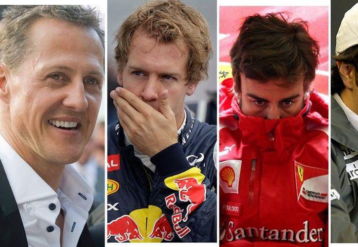 Cuatro serán los principales protagonistas en el circuito de Interlagos. (Foto: Especial/SIPSE)