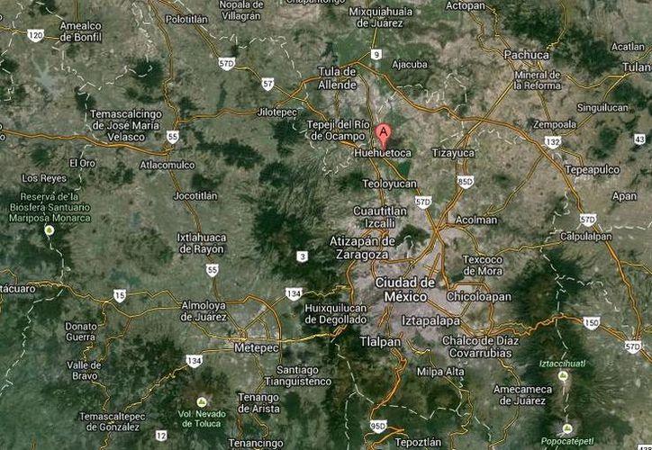 La balacera en Huehuetoca se derivó del incendio del Palacio Municipal. (Google Maps)
