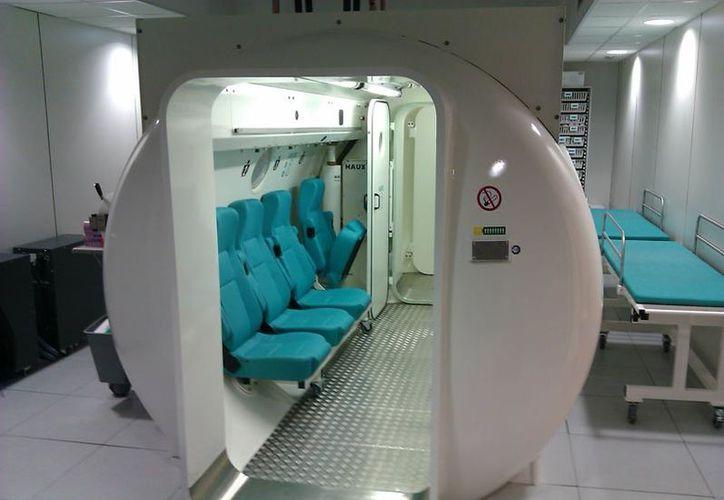 La cámara hiperbárica es la más grande de su tipo en Latinoamérica. (Imagen de contexto/www.poseidoncalella.com)