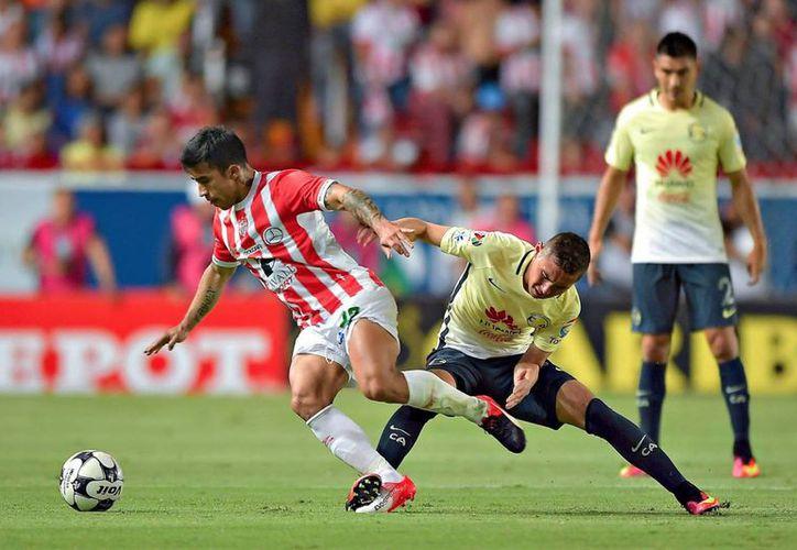 Necaxa eliminó a Pachuca, actual campeón de la Liga MX, y ahora tendrá una dura prueba enfrentando a las Águilas del América.(Notimex)