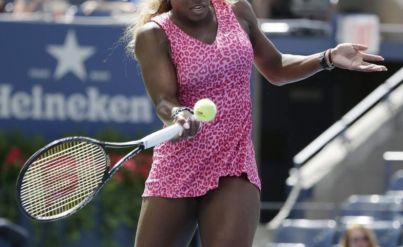 Una de las favoritas del US Open, r Serena Williams vapuleó 6-1 y 6-0 a su compatriota Vania King. (EFE)