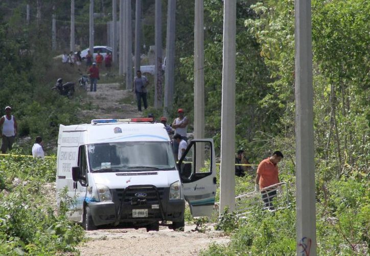 El cuerpo de la menor fue hallado en un área verde. ( Sergio Orozco/SIPSE)