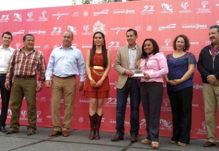María Concepción Matos Romero del Colegio de Estudios Científicos y Tecnológicos de Quintana Roo (CECYTE) obtuvo el primer lugar. (Contexto/Internet)