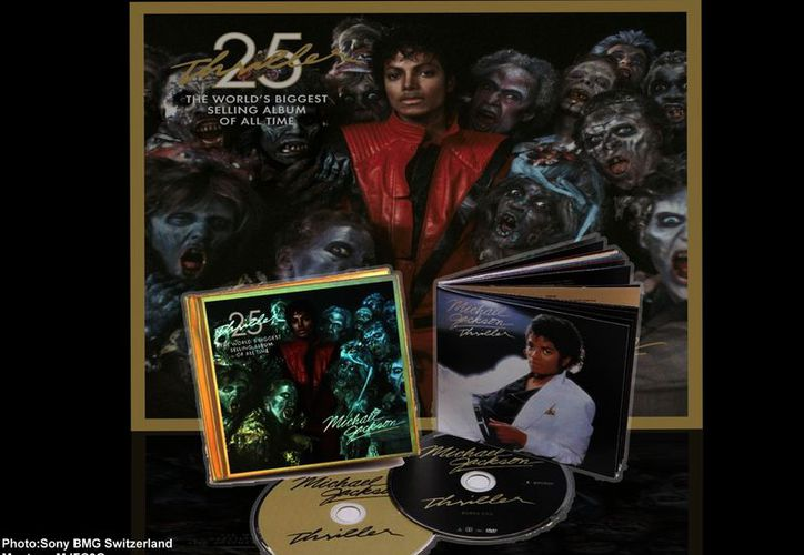En 2008, 'Thriller' ingresó al Salón de la Fama del Grammy y preservado en la Biblioteca del Congreso de EU. (Sony BMG Switzerland)