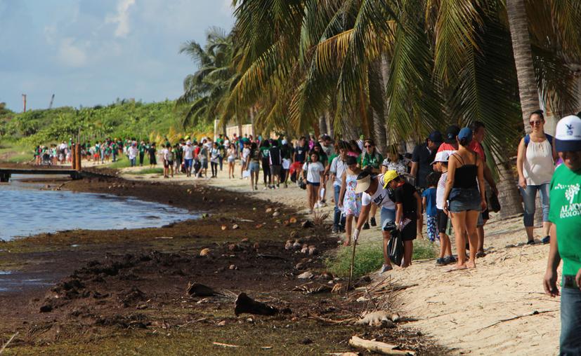 Organizaciones, escuelas, empresas y fundaciones, atendieron la convocatoria de Ocean Conservancy. (Paola Chiomante/SIPSE)