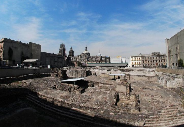 Al pie del Templo Mayor, en el corazón del Centro Histórico de la Ciudad de México, fueron encontrados 336 objetos invaluables. (Archivo/Notimex)