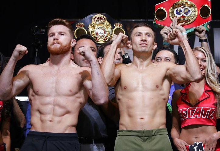 """""""Canelo"""" y """"GGG"""" subirán al ring para medirse en el desempate de su primer combate en 2017. (Vanguardia MX)"""