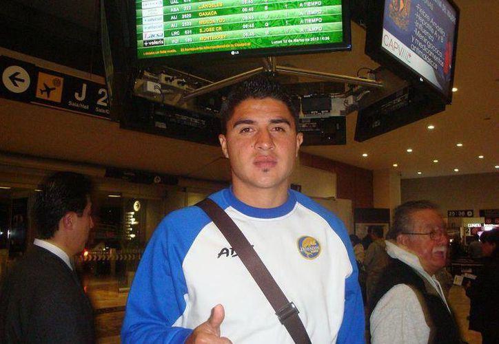 Fausto Ruiz, a su arribo a esta ciudad. (SIPSE)