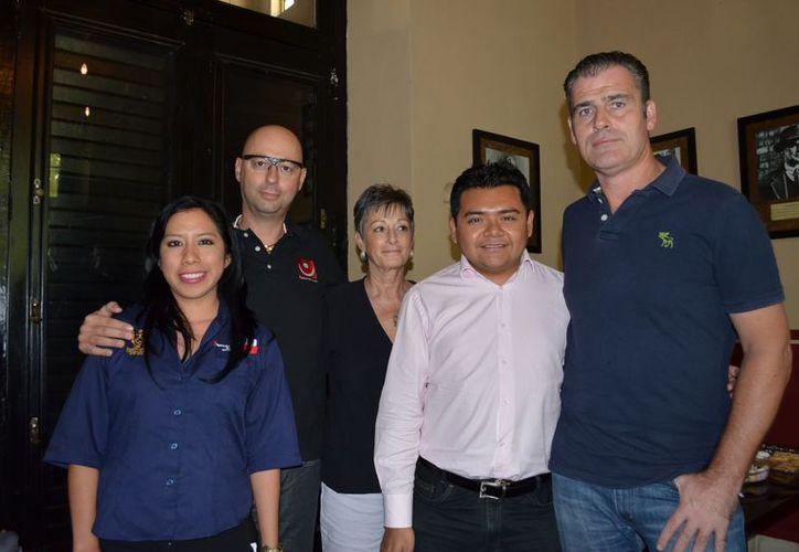 Arlette Carrillo Sulub; Luca Cuturi; Nancy Hoag; Carlos Cabrera; Sean Hennessy. (Theany Ruiz)