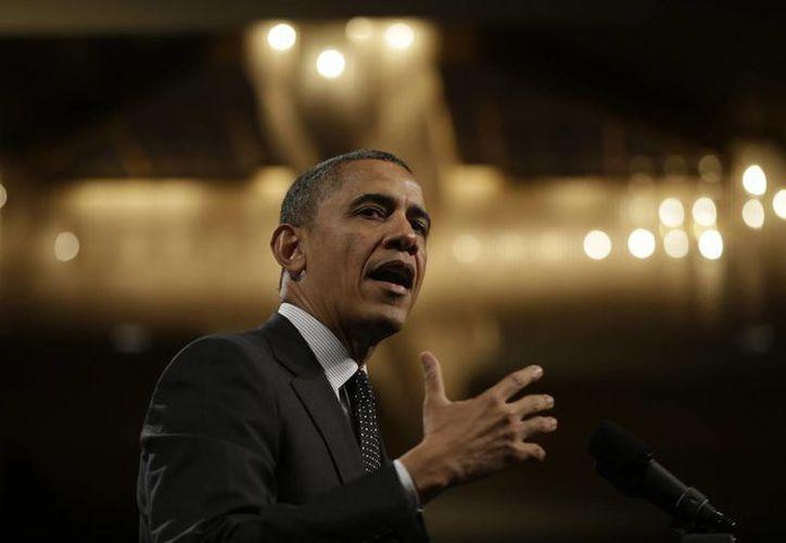 Obama en un retiro de legisladores demócratas en la comunidad de Leesburg, Virginia. (Agencias)