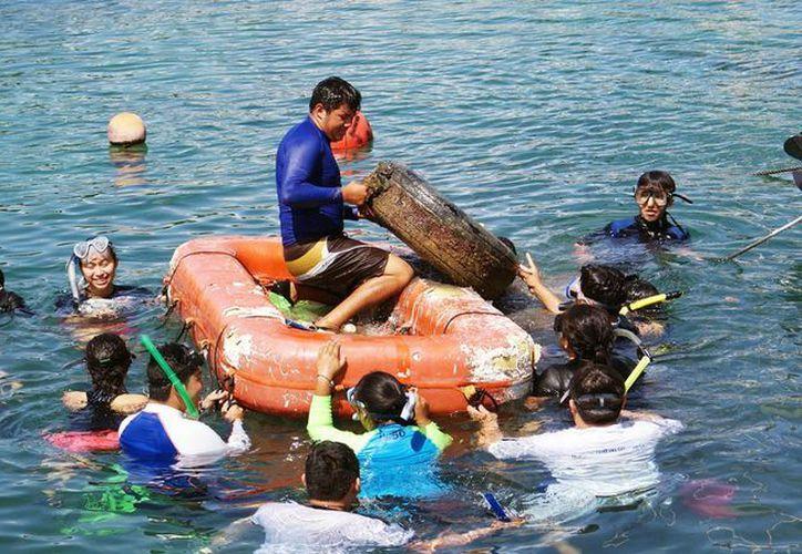 En la jornada participaron alumnos del Centro de Estudios Tecnológicos del Mar. (Redacción/SIPSE)