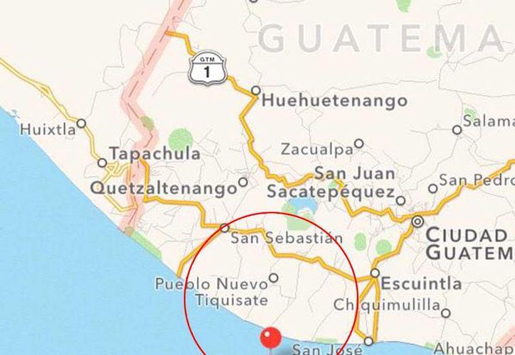 Imagen de la zona de afectación  de los sismos en Guatemala. (@CNNEE)