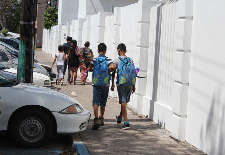 En lo que ha transcurrido del ciclo escolar, los estudiantes han perdido cinco días sin actividad escolar. (Joel Zamora/SIPSE)