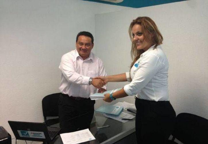 Ayer se hizo el registro de Gabriela Barquet Juárez. (Adrián Barreto/SIPSE)
