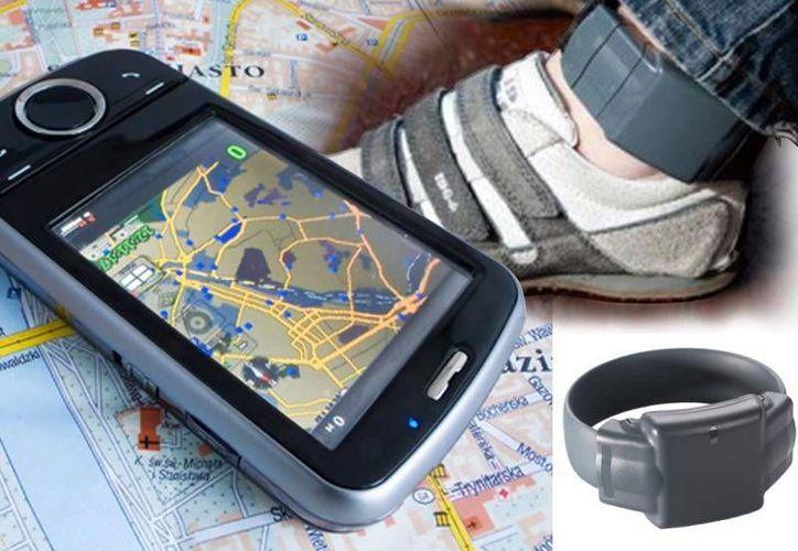 Foto composición del brazalete que ofrece la empresa GPS monitor, para seguridad y monitoreo de presos. (Imagen: Especial/GPSmonitor.com.mx)