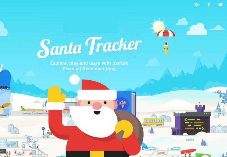 Google habilita un servicio para saber dónde se encuentra Santa Claus en cada momento, hacia dónde se dirige y cuántos regalos ha repartido. (Captura de pantalla/Google)