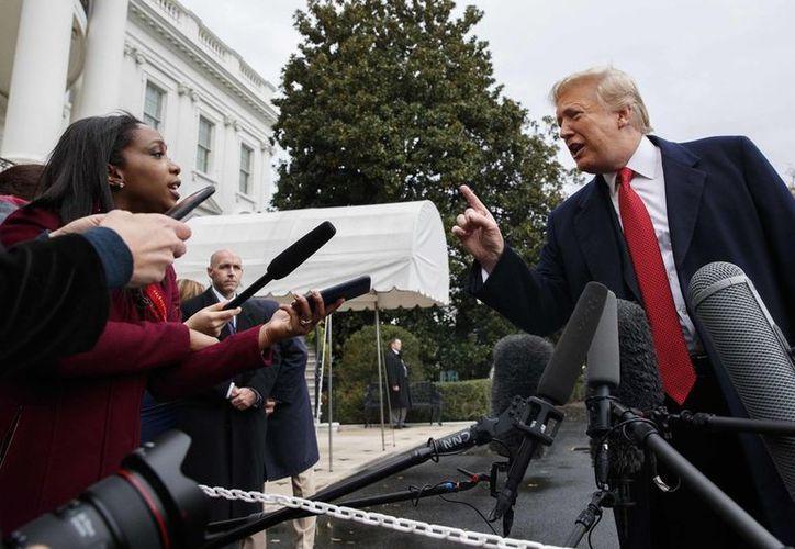 La relación entre Trump y los medios no mejora. (Foto: AP)