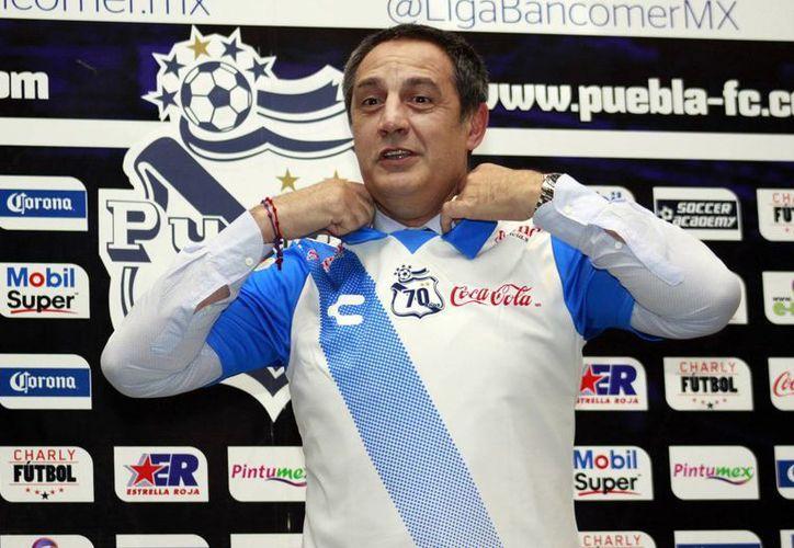 Pablo Marini fue presentado este viernes como nuevo técnico del equipo de Puebla de cara al torneo Apertura 2015 de la Liga MX. (Notimex)