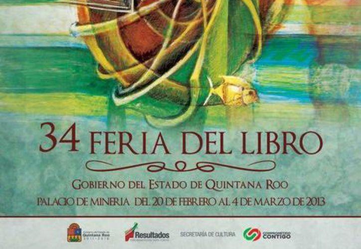 Póster promocional de la Feria Internacional del Libro del Palacio de Minería. (Cortesía/SIPSE)