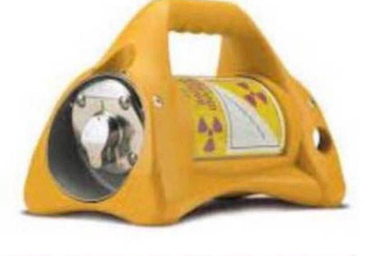 La Secretaría de Gobernación difundió imágenes del equipo que contiene la fuente radiactiva. (Excélsior)