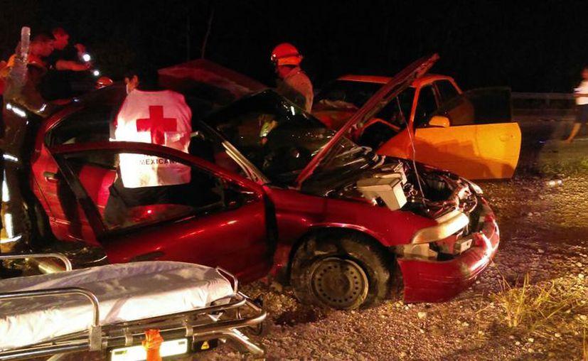 Se registraron dos accidentes fuertes en tulum, que dejaron lesionados y un muerto. (Foto: Sara Cauich)