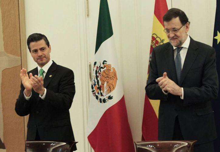 De partidos políticos y legisladores (de México), valoro su madurez política, expresó Peña Nieto ante Mariano Rajoy, jefe de gobierno español. (Notimex)