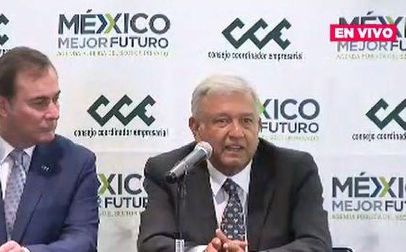 AMLO comentó de los planes empresariales en una conferencia de prensa. (Redacción)