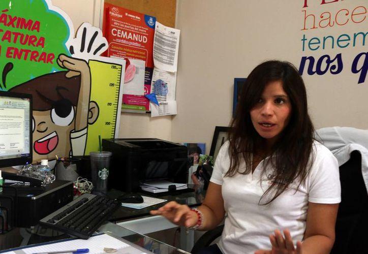 Ileana Fajardo, jefa del Departamento de Nutrición, afirmó que la obesidad y sobrepeso están presentes prácticamente en el 80 por ciento de los adultos meridanos mayores de 20 años. (José Acosta/Milenio Novedades)