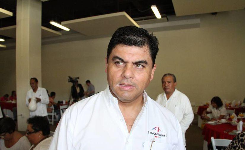 Rogelio Grey Avitia, director del Fideicomiso de Turismo de Chihuahua, sostuvo una reunión con agencias de viajes. (Miguel Ángel Ortiz/SIPSE)
