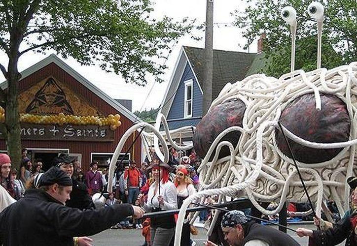 La Iglesia del Monstruo de Espagueti Volador ha adquirido popularidad en varias partes del mundo. (venganza.org)