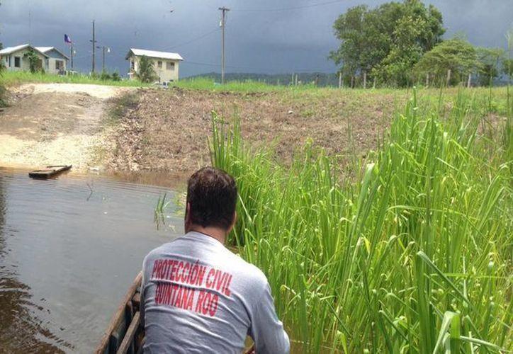 Protección Civil sigue trabajando en el monitoreo del Río Hondo. (Redacción/SIPSE)
